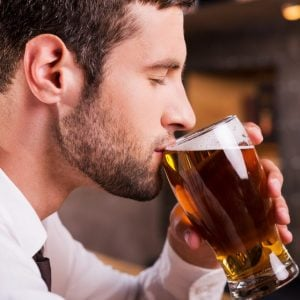 Drinking A Glass of Beer