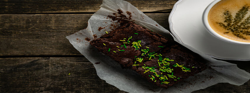 Cannabis Brownies And Coffee